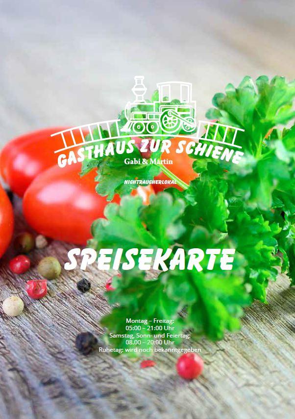 Speisekarte Gasthaus Zur Schiene